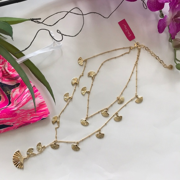 Lilly Pulitzer Coastal Shell Layered Y Necklace